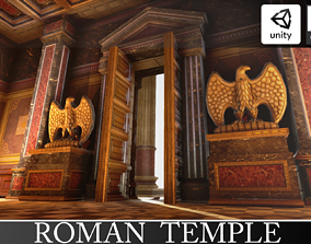 Roman Temple 3D model low-poly