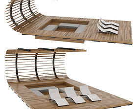 house berso 3D model Pergola