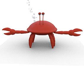 3D asset realtime Crab Cartoon