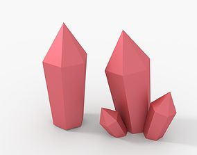 3D asset Crystal LOW POLY