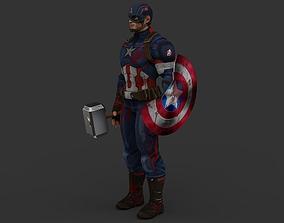 3D asset VR / AR ready Captain America