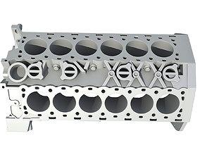 V12 Engine Block 3D