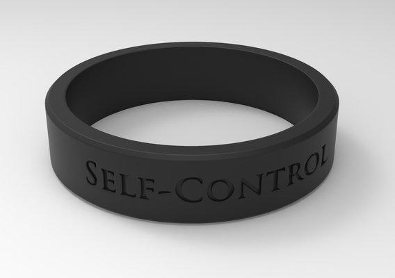 Self-Control Ring Black
