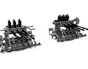 3D printable model 25 mm MG triple mounts scale 1-200