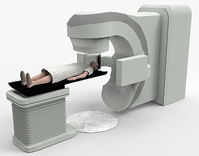 Varian True Beam Radiotherapy with patient 3D