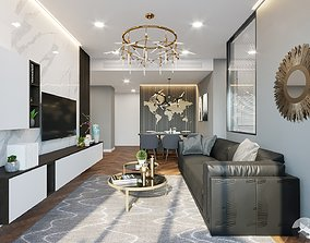 3D Apartment interior design home