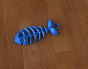 3D print model Fish skeleton earrings