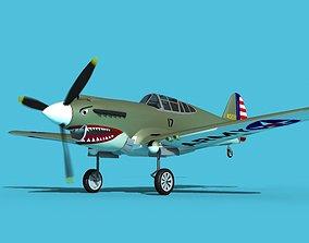3D Curtiss P-40B Warhawk V03 USAAF