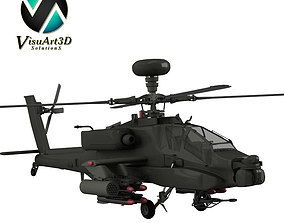 Apache AH64 Helicopter 3D model