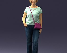 Woman in blue blouse 0043 3D Print Ready stereolithography
