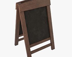 Menu Board Stand 01B 3D asset