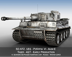 3D model Panzer VI - Tiger - 427 - Early Production