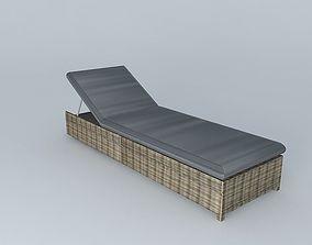 3D model Gray sunbathing ST RAPHAEL