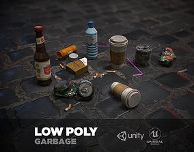 Urban Garbage Small Pack and Trash set 3D model