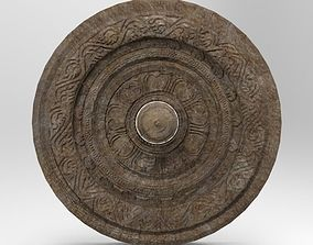 Chariot wheel with sculpting 3D model