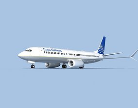3D Boeing 737-800 Max COPA Airlines