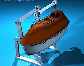3D model Life boat side support