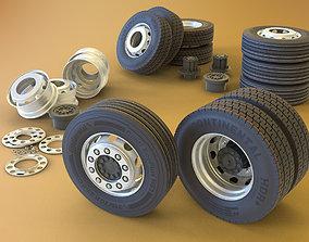 large-truck Truck Wheel 3D model