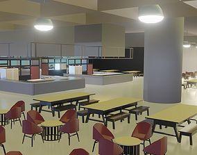 Simple Food Court 3D asset