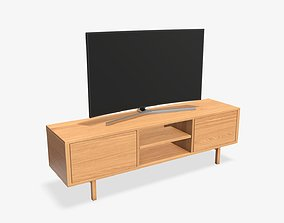 3D model TV with cabinet