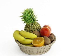 Ratan Fruit Basket 3D model