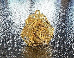 3D print model BRO WOVEN TETRAHEDRON PENDANT