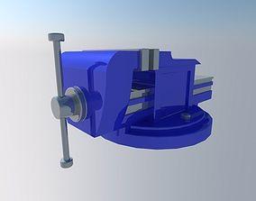 3D asset blue vice
