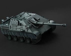 3D model Germany Jagdpanther tank destroyer long range 1