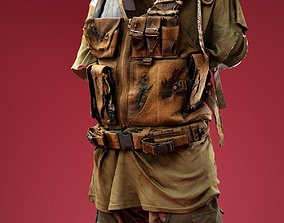 Creepy Soldier Costume 3D model