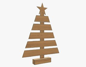 3D Christmas tree wooden