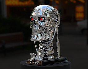 Terminator T-800 Skull Bust 3D Print Stl Model Diorama