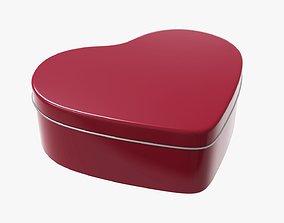 3D Metal tin can heart shaped