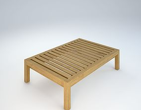exterior wooden table 3D
