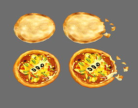 Bread and pizza 3D asset