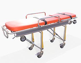 3D model Ambulance Stretcher Trolley
