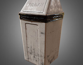 Industrial Trash Can - PBR Game Ready 3D model