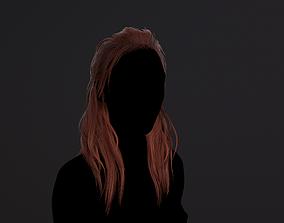 Hair medium red 3D asset