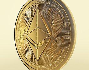Ethereum cryto coin token model 3D