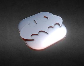 Batman Flat KeyCap 3D printable model
