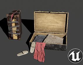 Suitcases Kit 3D asset low-poly