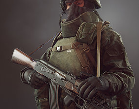 Russian soldier 3D model VR / AR ready