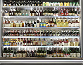 3D model Showcase in Alcohol store