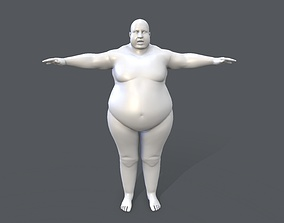 3D model Middle poly male basemesh - 2