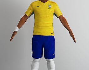 Neymar 3D model