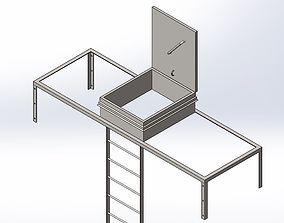 design Hatch ladder assembly 3D