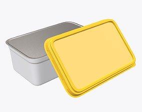 Margarin rectangular package 02 3D model