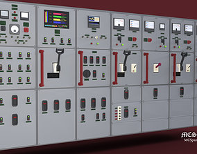 electronics Electrical Panel HV - LV 3D model