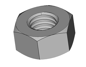 hobby 3D print model hexagon nut
