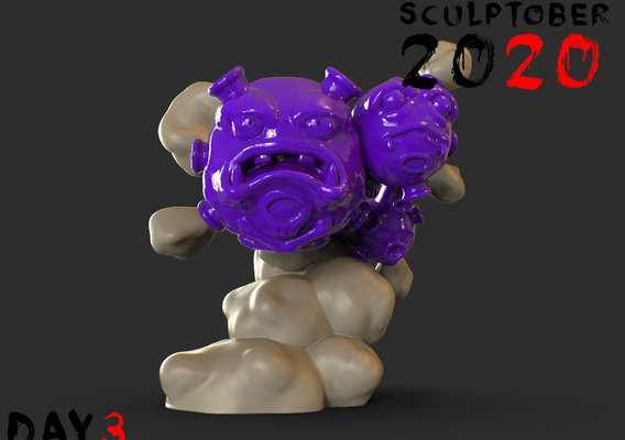 Sculptober Day 03 Weezing