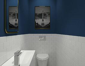 Bathroom-003 Powder Room 3D model